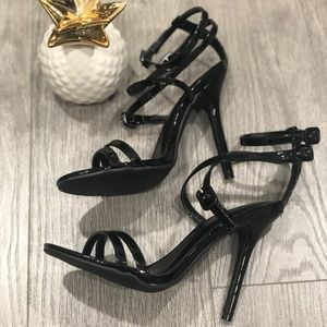 Crisscross Patent Strappy Sandals